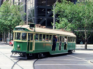 W2 in Feb 1989 at corner of William and Collins Streets Melbourne